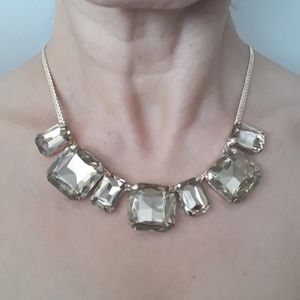 Jewelry - GOLDTONE WITH YELLOW CRYSTAL.NECKLACE